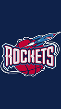 Houston Rockets Basketball 1995-2003 Logo Embroidered T-Shirt S-6X, LT-4XLT New