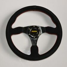 Racing 345mm /13.6inch Car Sport Racing Suede Leather Alloy Steering Wheel