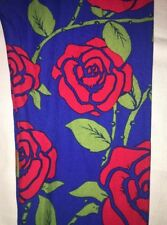 NWT LuLaRoe TC Leggings Red Roses Blue Background Floral - Major Unicorn