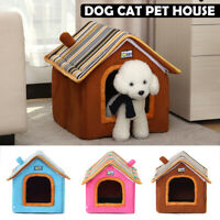 Dog Cat Cosy Warm Winter Bed Igloo House Soft Luxury Basket For Pets Puppy Mat