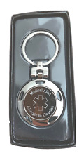 Allergic to Codeine  Personalised Medical Alert SOS ID Keyring ENGRAVED FREE