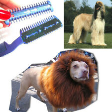 Pet Dog Puppy Cat Hair Trimmer Grooming Shedding Comb 2 Razor Cutting Clean Tool