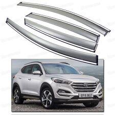 4Pcs Car Window Visor Vent Shade Rain/Sun Guard for 2016-Up Hyundai Tucson NEW