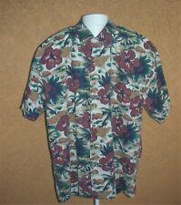 Greatland Mens XL Hawaiian Shirt Button Up Short Sleeve Tropical Palm Trees