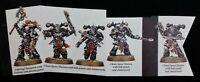 Chaos 5 Melee Marines Aspiring Champion Shadowspear Warhammer 40K Chainswords