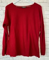 NEIMAN MARCUS Womens' Red Boatneck Sweater Size XL