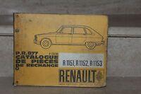 catalogue pièces de rechange PR877 ( Renault R1151 52 53)