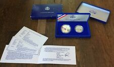 1886-1986 United States Liberty Coins 2 Coin Set Silver Dollar & Half Dollar