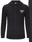 TAPOUT Mens Black Hoody Hoodie Full Zip Fleece UK Size L Large *REF70