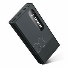 TAMOWA Powerbank 20000mAh Alta Capacità Caricabatterie Portatile con LCD Digi...