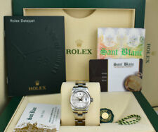 ROLEX Ladies 26mm Stainless DateJust Silver Index Oyster Band 179160 SANT BLANC