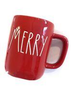 New Rae Dunn Merry Coffee Mug Red Christmas Ceramic Holiday