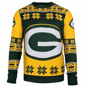 NFL Green Bay Packers Big Logo Ugly Sweater  size Medium