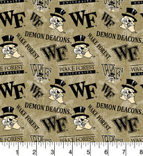 NCAA Wake Forest Cotton Fabric-Wake Forest Demon Deacons Cotton Fabric-WF1178