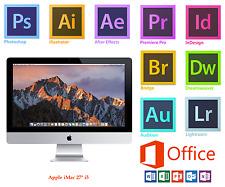 APPLE iMAC 27 inch, i5,1TB +SSD Adobe Photoshop,Illustrator,Indesign,MS Office16