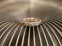 Toller 925 Silber Ring Klein Kinderring? Striche Rillen Struktur Modern Elegant