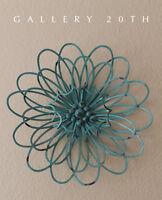 MID CENTURY MODERN BRUTALIST FLOWER WALL SCULPTURE! AQUA ART JERE VTG 60'S RETRO