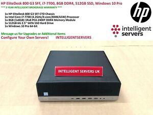 HP EliteDesk 800 G3 SFF, i7-7700, 8GB DDR4, 512GB SSD, Windows 10 Pro