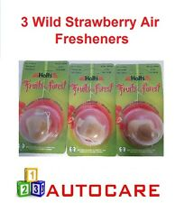 Holts Fruits of the Forest Car Air Freshener Wild Strawberry X3