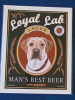 "Retro Pets Dog Art Print - 10""x8"" - Krista Brooks - Labrador - Loyal Lab"