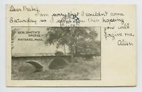 Maynard, MA - c1905 VIEW of BEN SMITHS BRIDGE - Postcard - H