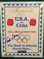 USA v Cuba 1996 Olympic Qualifier Program Atlanta Autographed by Antonio Tarver