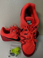 Men's NIKE ZOOM RIVAL M 8 TRACK SPRINT SPIKES SHOES Red Size 15 806555-614