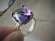 DAVID YURMAN Châtelaine Ring with Amethyst and Diamonds, 14mm, size 7