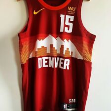 Authentic Nike Denver Nuggets Jokic City jersey sz 48 L BNWT sunset red