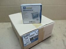 """10 Double Gang Weatherproof Outlet Box 1/2"""" Threaded Holes Gray Topaz P/N WB2450"""