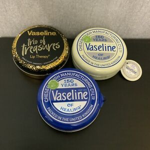 3❌ Various Vaseline Trio Lip Therapy Tin - Gift Set For Women / Her Sealed