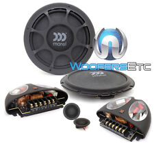 "MOREL VIRTUS NANO 602 6.5"" SHALLOW MOUNT COMPONENT SPEAKERS TWEETERS CROSSOVERS"