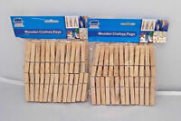120 x Wooden Clothes Spring Pegs Laundry Washing Length 72mm