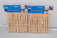200 x Wooden Clothes Spring Pegs Laundry Washing Length 72mm