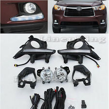 FL7016 Fog Bumper Lamps LED Daytime Running Light For 14 15 16 Toyota Highlander