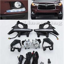TY693L Fog Bumper Lamps LED Daytime Running Light For 14 15 16 Toyota Highlander