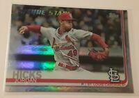2019 Topps Jordan Hicks Rainbow Foil Insert Card #329 St. Louis Cardinals