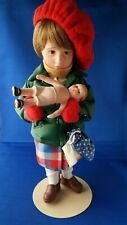 "Norman Rockwell Collector's Edition Porcelain Character Doll Mimi 11 1/2"" Excl"