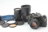 【N MINT】Canon A-1 + New FD 50mm f1.4+ 28-85mm f4 +135mm f2.8 Lens from Japan 287