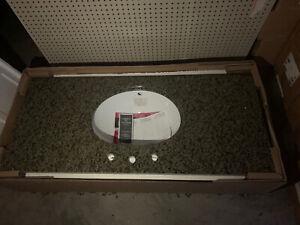 """Granite Bathroom Countertop 49"""" X 22"""" Quadro Brand New"""