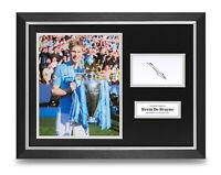 Kevin De Bruyne Signed 16x12 Framed Photo Display Man City Autograph Memorabilia