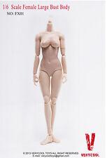 VERYCOOL FX01 1:6 SCALE FEMALE LARGE BUST BODY women girl heet hand Hobbies