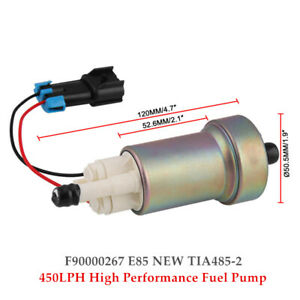 450LPH High Performance Fuel Pump +Kit F90000267 E85 NEW TIA485-2 Fuel filter