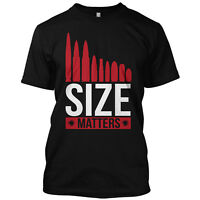 Size Matters Bullets Funny T Shirt Gun Rights Graphic Hunting Gift Tee