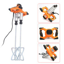 Power Concrete Mixers 1600W Electric Mortar Mixer Dual Paddle High Low Gear