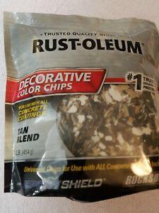 Rust-Oleum Epoxy Shield Decorative Tan Blend Color Chips Concrete Coating