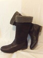Unisa Dark Brown Mid Calf Leather Boots Size 37