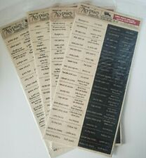 Quick Ship! 7 Gypsies Chemistry Numbers Apothecary Label stickers ~Adorable
