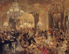 Adolph Menzel The Ballsouper Giclee Canvas Print  Poster