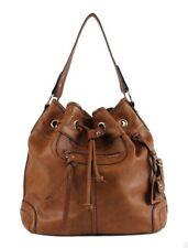 Leather drawstring bucket Bag Large Commute Handbag Shoulder Bag for Women
